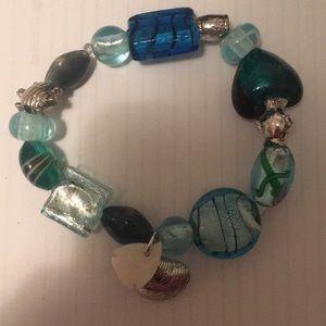 Avon sea life bracelet beaded chic blue